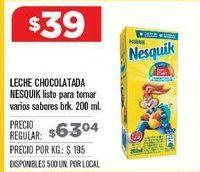 Oferta de Chocolatada Nesquik por $39