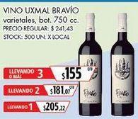 Oferta de Vino tinto Uxmal por $205,22