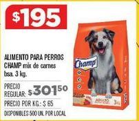 Oferta de Alimento para perros Champ por $195