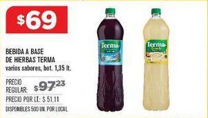 Oferta de Bebidas de sabores Terma por $69