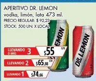Oferta de Vodka Dr. Lemon por $74,66