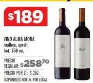 Oferta de Vino Alma Mora por $189