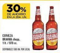 Oferta de Cerveza Brahma por
