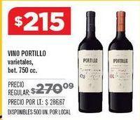 Oferta de Vino Portillo por $215