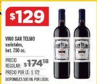 Oferta de Vino San Telmo por $129