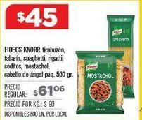 Oferta de Fideos Knorr por $45