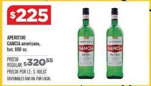 Oferta de Bebidas alcohólicas Gancia por $225