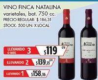 Oferta de Vino Finca Natalina por $158,36