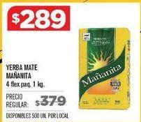 Oferta de Yerba mate Mañanita por $289