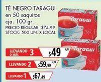 Oferta de Tés Taraguí por $67,49