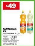 Oferta de Agua con sabor Vea por $49