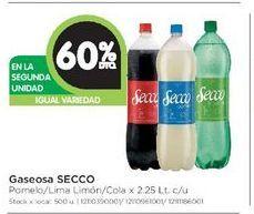 Oferta de Gaseosas SECCO 2,25LT  por