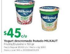 Oferta de Yogur descremado con frutas Milkaut 150gr  por $45