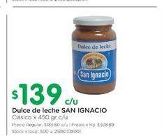 Oferta de Dulce de leche San Ignacio 450GR  por $139