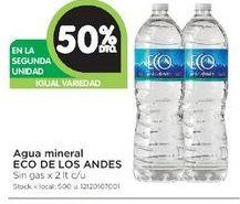 Oferta de Agua Eco de los Andes 2lt  por