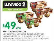 Oferta de Flan casero 240gr  Sancor por $49