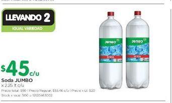 Oferta de Soda JUMBO 2,25LT  por $45