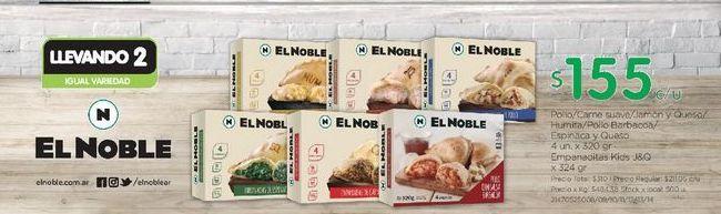 Oferta de Empanada EL NOBLE por $155