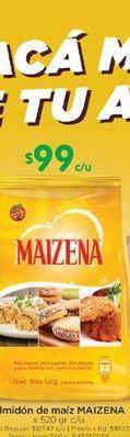 Oferta de Almidon de maiz Maizena 520gr  por $99