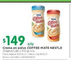Oferta de Crema en polvo COFFEE MATE NESTLE  por $149