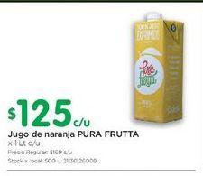 Oferta de Jugo de naranja PURA FRUTTA 1LT por $125
