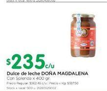 Oferta de Dulce de leche DOÑA MAGDALENA 400GR  por $235