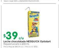 Oferta de Leche chocolatada NESQUICK 200ML  por $39