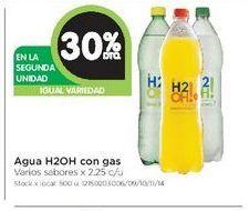 Oferta de Agua H2oh con gas 2,25 por