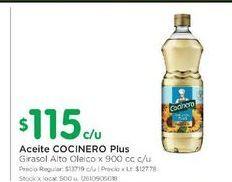Oferta de Aceite Cocinero plus 900cc por $115