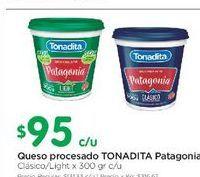 Oferta de Queso procesado 300gr Tonadita por $95