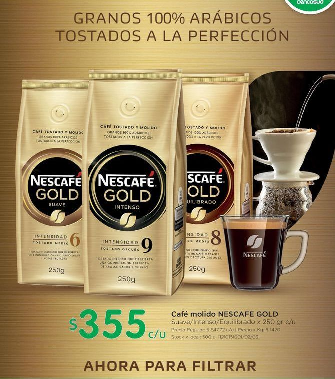 Oferta de Café molido Nescafé 250gr por $355