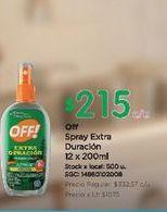 Oferta de Spray extra duracion 12 x 200ml Off por $215