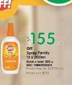 Oferta de Spray family 12 x 200ml Off por $155