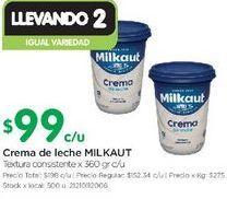 Oferta de Crema de leche Milkaut 360gr  por $99