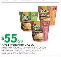 Oferta de Arroz preparado Gallo 240gr  por $55