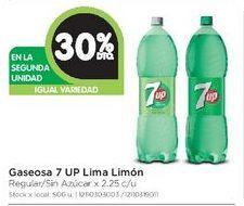 Oferta de Gaseosas Seven Up lima limon 2,25lt  por