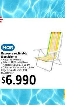 Oferta de Reposera reclinable 8 posiciones MOR por $6990