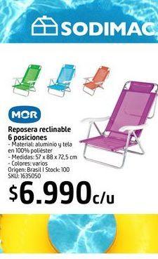 Oferta de Reposera reclinable 6 posiciones MOR  por $6990