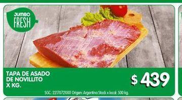 Oferta de Tapa de asado de novillito por $439