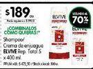 Oferta de Shampoo/ crema de enjuague ELVIVE rep.total 5 400ml  por $189