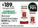 Oferta de Shampoo/crema de enjuague  Elvive 400ml  por $189