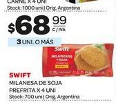 Oferta de Milanesa de soja prefrita x 4uni SWIFT  por $68,99