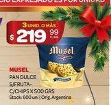Oferta de Pan dulce Musel 500grs  por $219,99