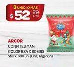 Oferta de Confites mani color bsa 80grs Arcor por $52,29