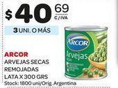 Oferta de Arvejas secas remojadas Arcor 300gr  por $40,69