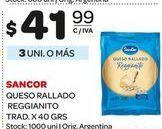 Oferta de Queso rallado reggianito 40grs  Sancor por $41,99