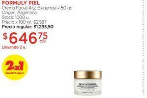 Oferta de FORMULY PIELCrema Facial Alta Exigencia x 50 gr. por $646,75