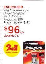 Oferta de ENERGIZERPilas Max AAA x 2 u. por $96