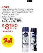 Oferta de NIVEADesodorante en Aerosol x 150 ml. por $81,5