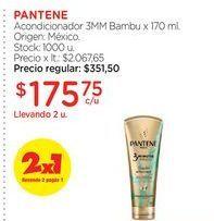 Oferta de Acondicionador 3MM Bambu x 170 ml.  PANTENE por $175,75